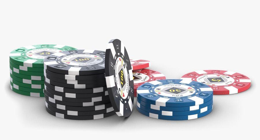 Żetony do kasyna 1 royalty-free 3d model - Preview no. 4