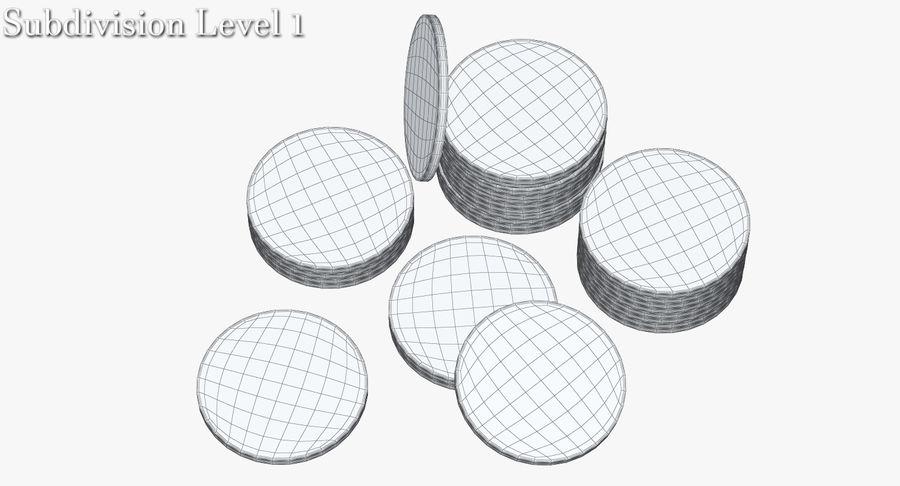 Żetony do kasyna 1 royalty-free 3d model - Preview no. 10