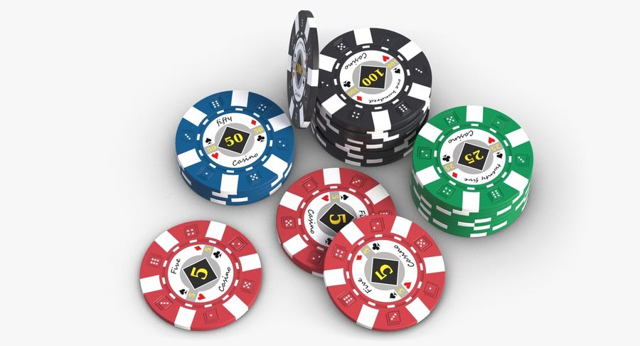 Żetony do kasyna 1 royalty-free 3d model - Preview no. 6