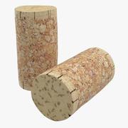 Wine Cork 3 3d model