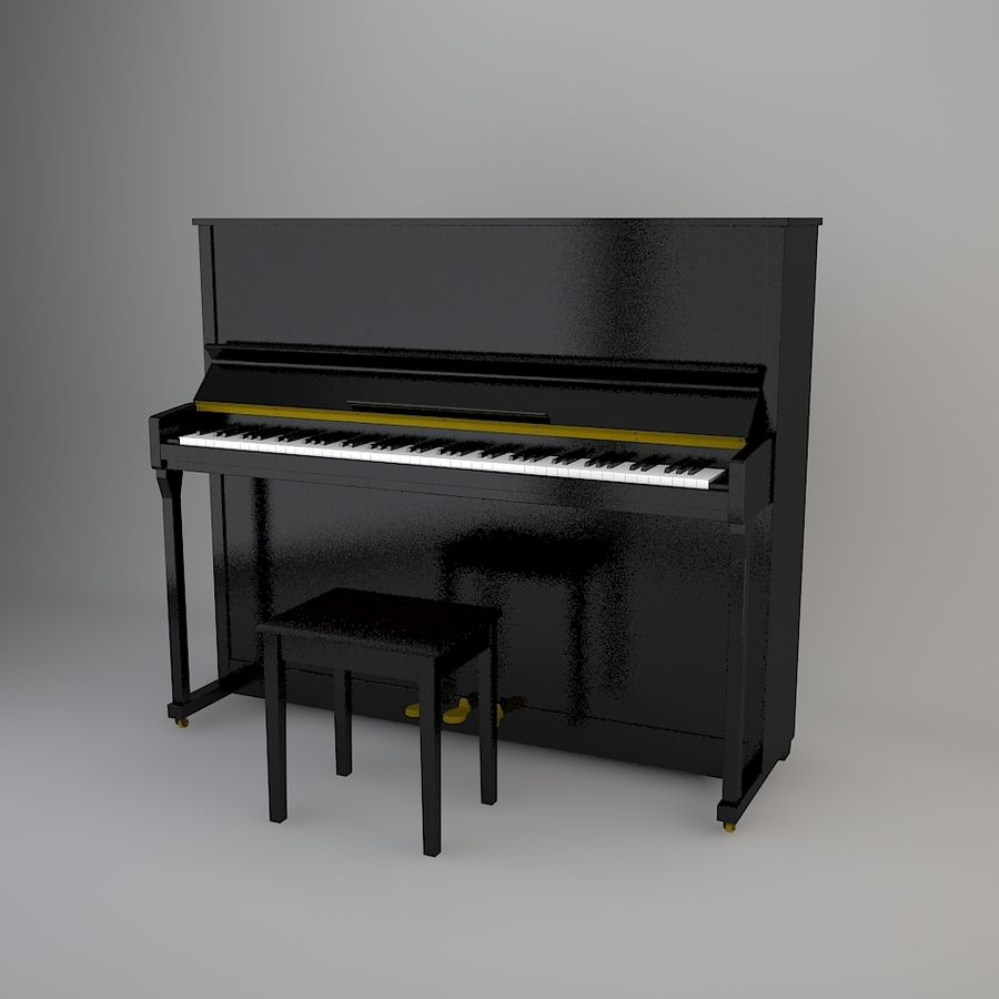 Klavier royalty-free 3d model - Preview no. 2
