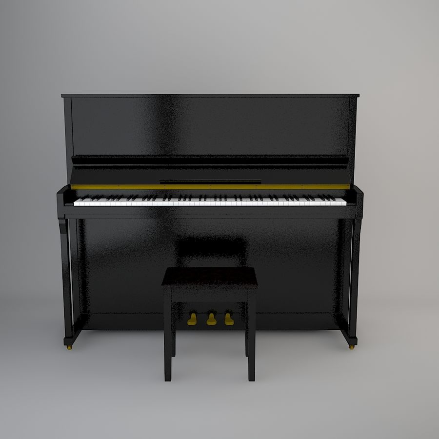 Klavier royalty-free 3d model - Preview no. 3