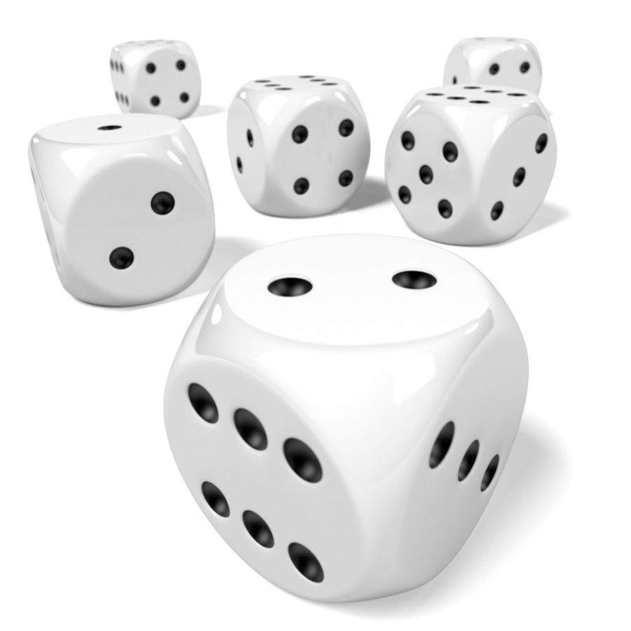 Dices royalty-free 3d model - Preview no. 4
