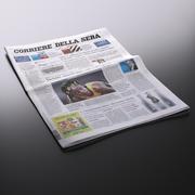 新《 Corriere della Sera》报纸 3d model