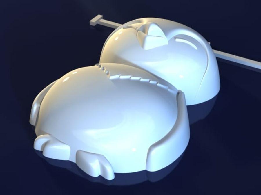 企鹅 royalty-free 3d model - Preview no. 3