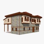 传统的奥斯曼(土耳其)房屋安塔利亚 3d model