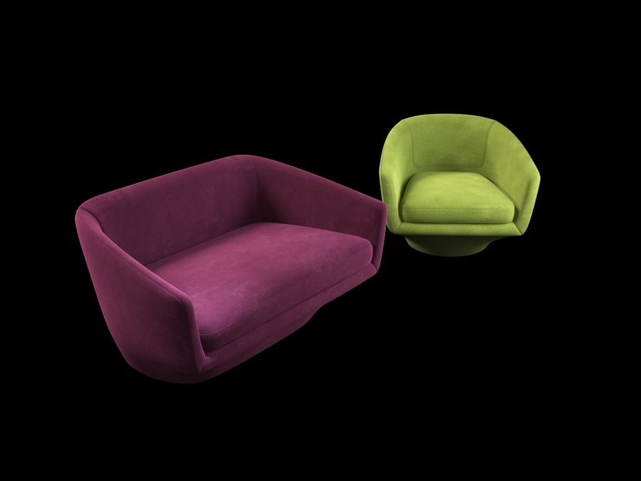 Sofa U royalty-free 3d model - Preview no. 8