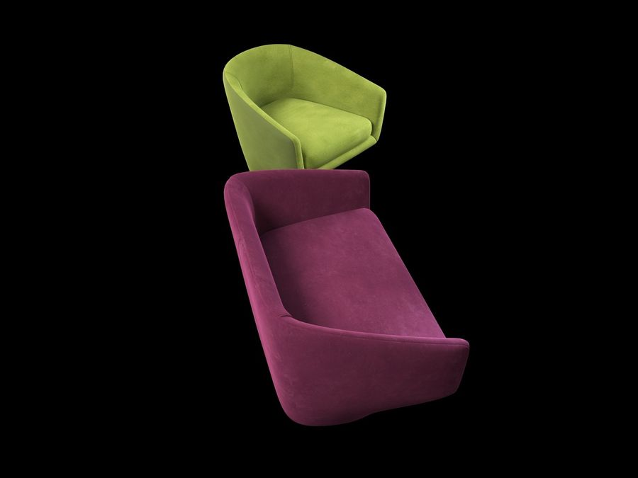 Sofa U royalty-free 3d model - Preview no. 7