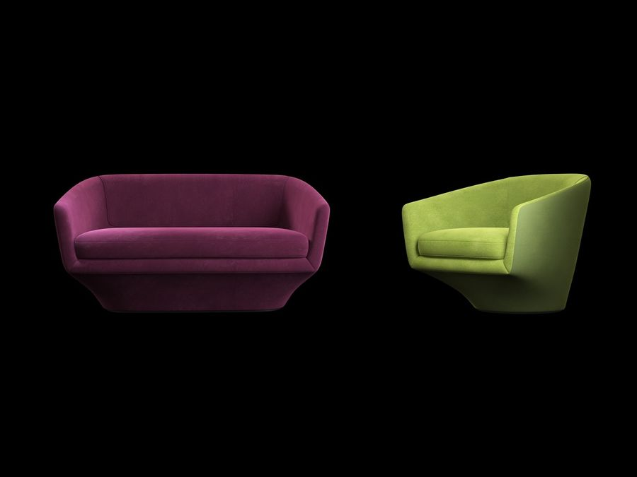 Sofa U royalty-free 3d model - Preview no. 6