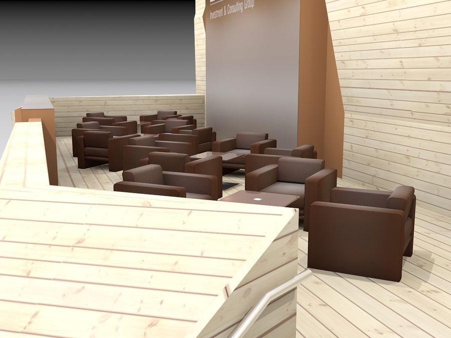 Stand 2 royalty-free modelo 3d - Preview no. 2