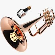 Trompet + Muet 3d model