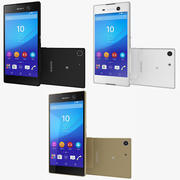 Sony Xperia M5 All Colors 3d model