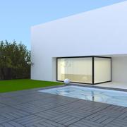 Piscina moderna con 12 terrazze 3d model