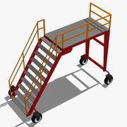 Plataforma industrial rodante modelo 3d