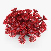 Poritidae коралловый красный 3d model