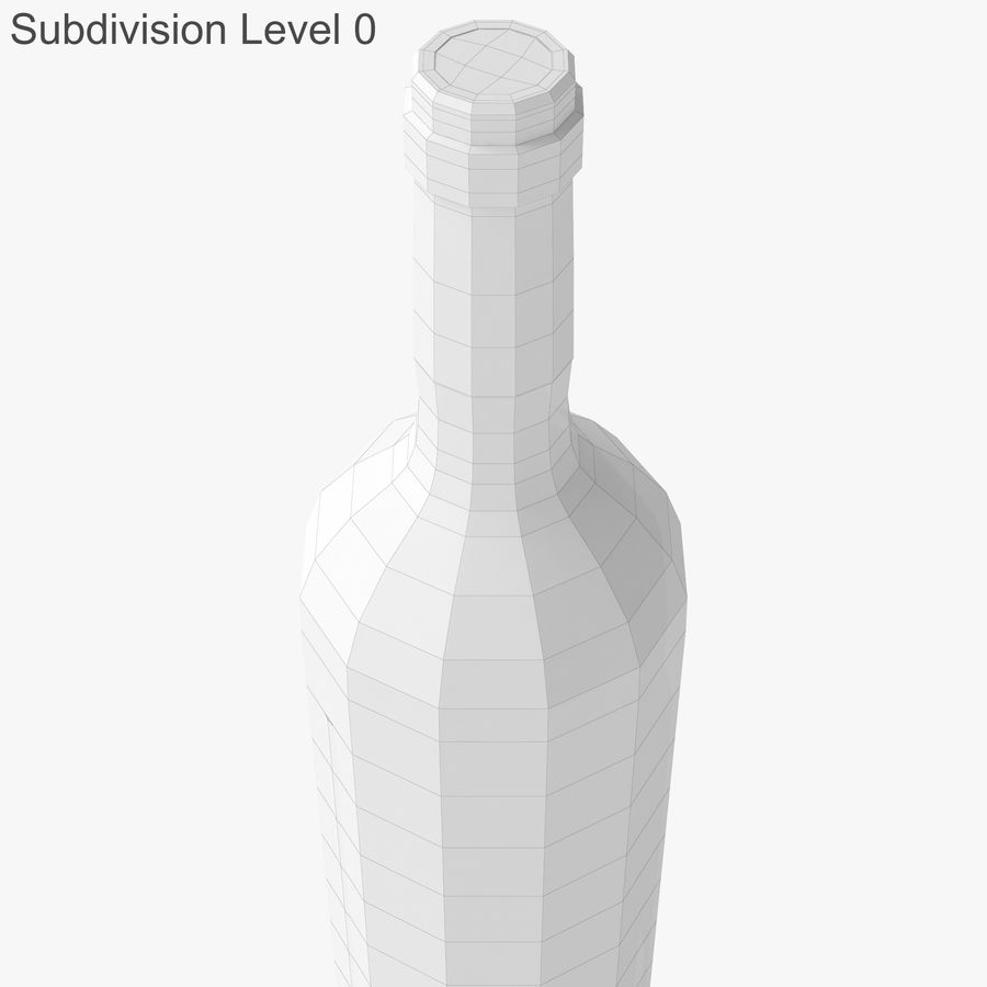 wine bottle red wine royalty-free 3d model - Preview no. 27
