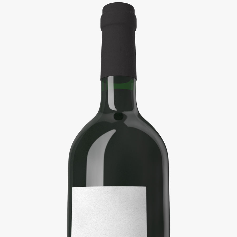 wine bottle red wine royalty-free 3d model - Preview no. 8