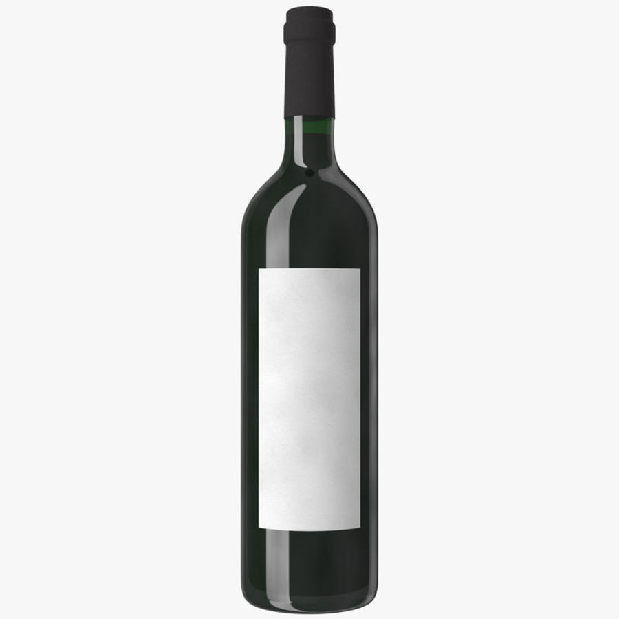 wine bottle red wine royalty-free 3d model - Preview no. 13