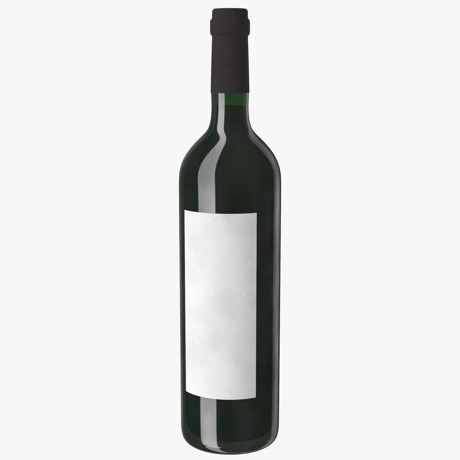 wine bottle red wine royalty-free 3d model - Preview no. 1