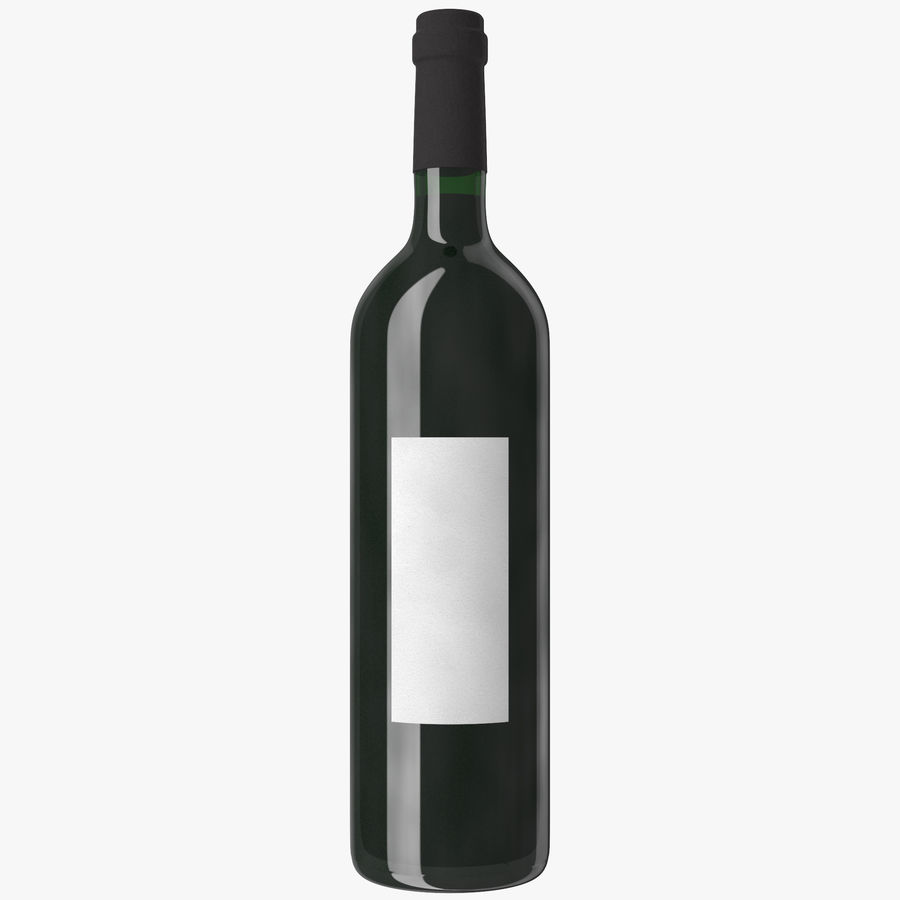 wine bottle red wine royalty-free 3d model - Preview no. 14