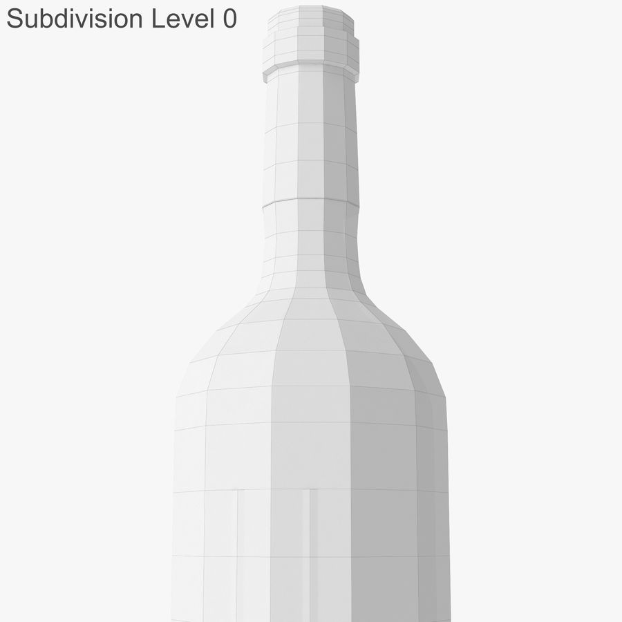 wine bottle red wine royalty-free 3d model - Preview no. 25