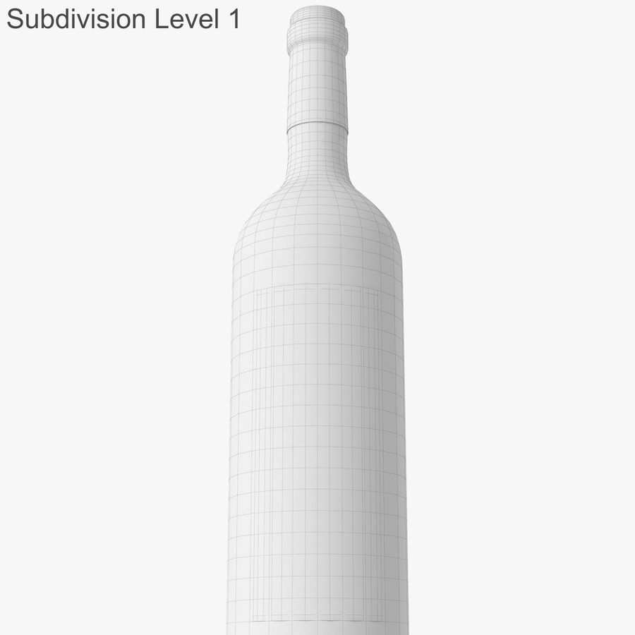 wine bottle red wine royalty-free 3d model - Preview no. 44