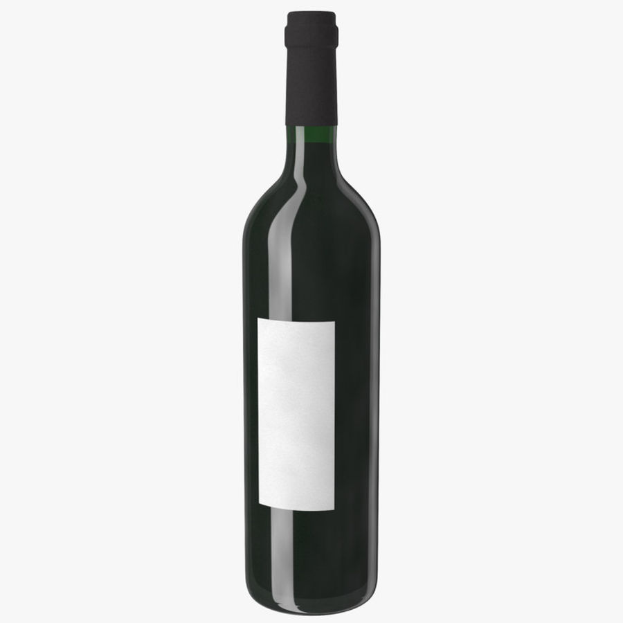 wine bottle red wine royalty-free 3d model - Preview no. 3