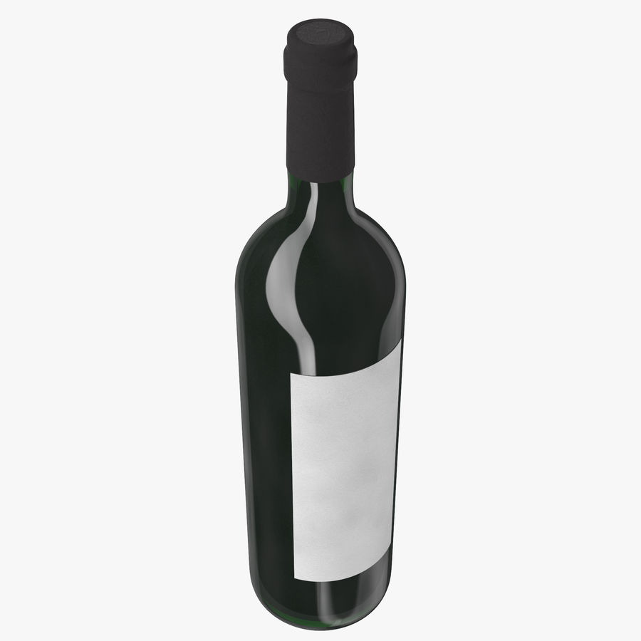 wine bottle red wine royalty-free 3d model - Preview no. 6