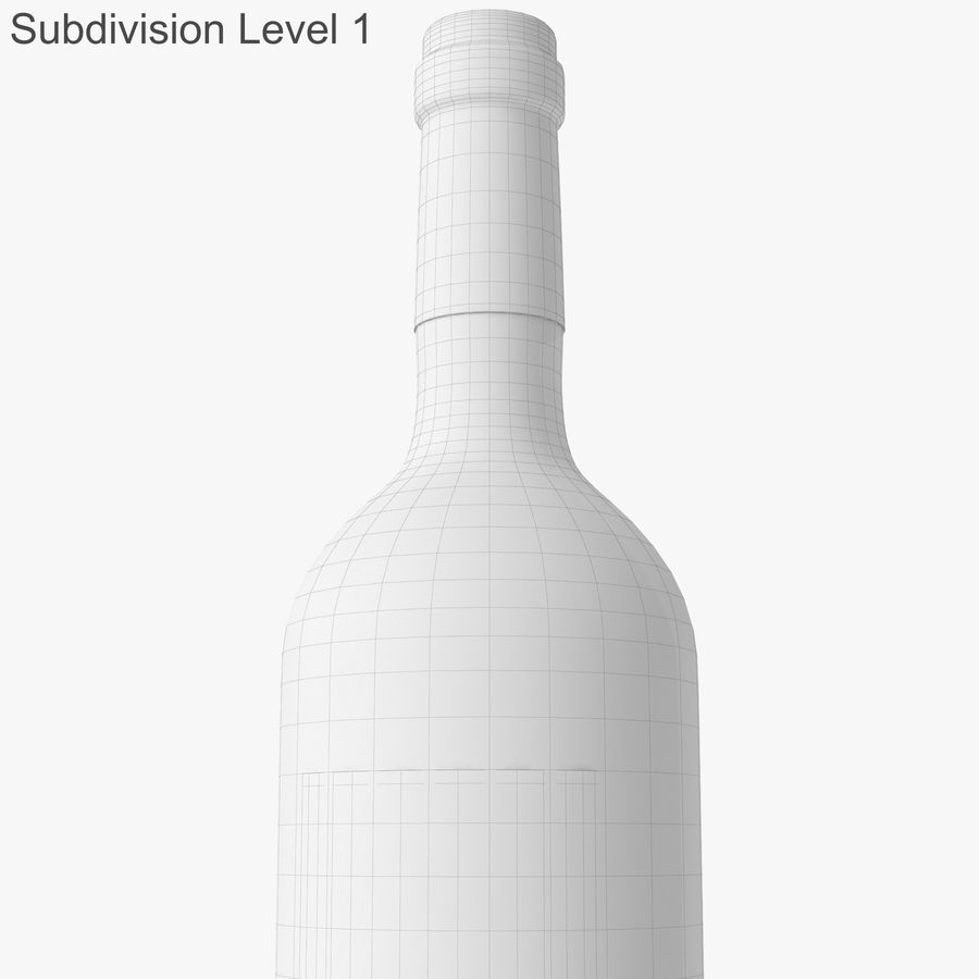 wine bottle red wine royalty-free 3d model - Preview no. 40