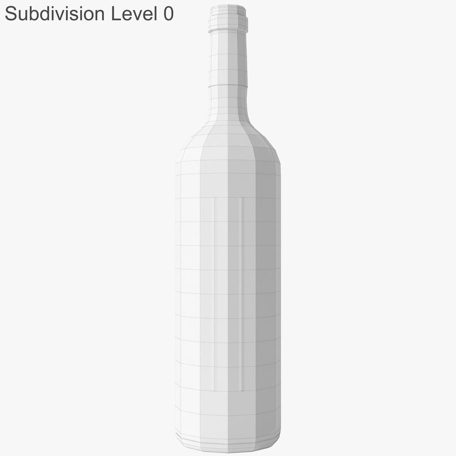 wine bottle red wine royalty-free 3d model - Preview no. 30