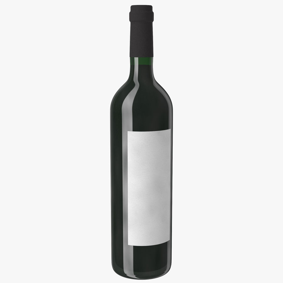 wine bottle red wine royalty-free 3d model - Preview no. 2