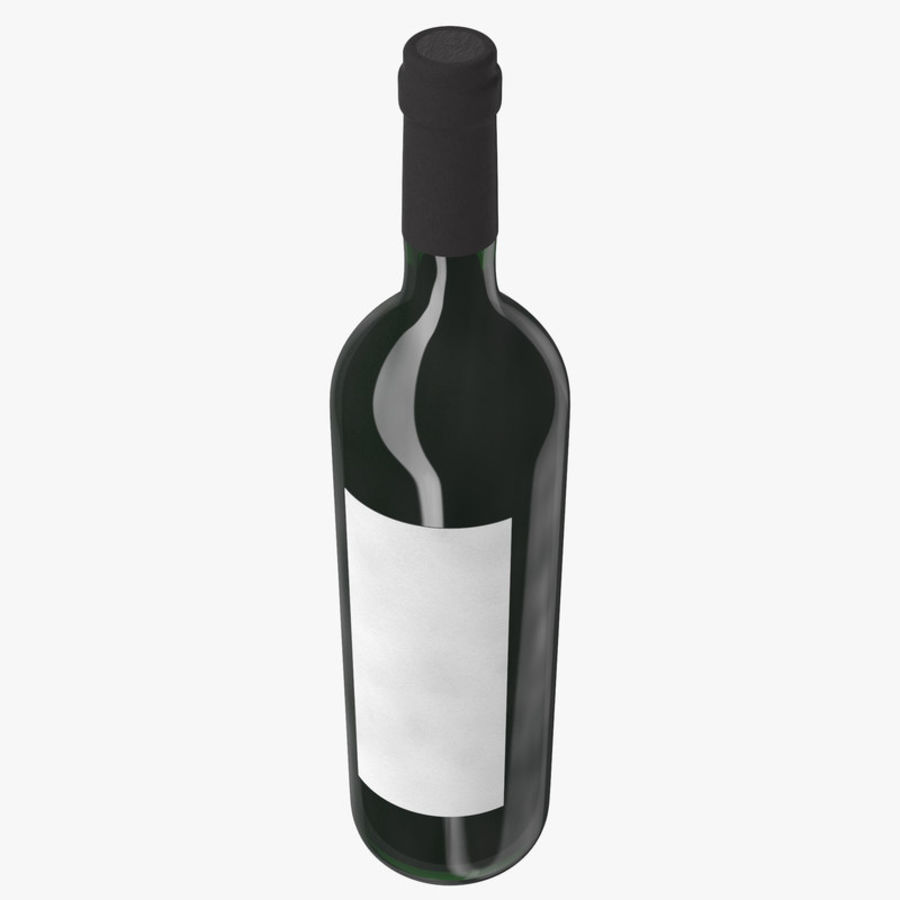 wine bottle red wine royalty-free 3d model - Preview no. 5