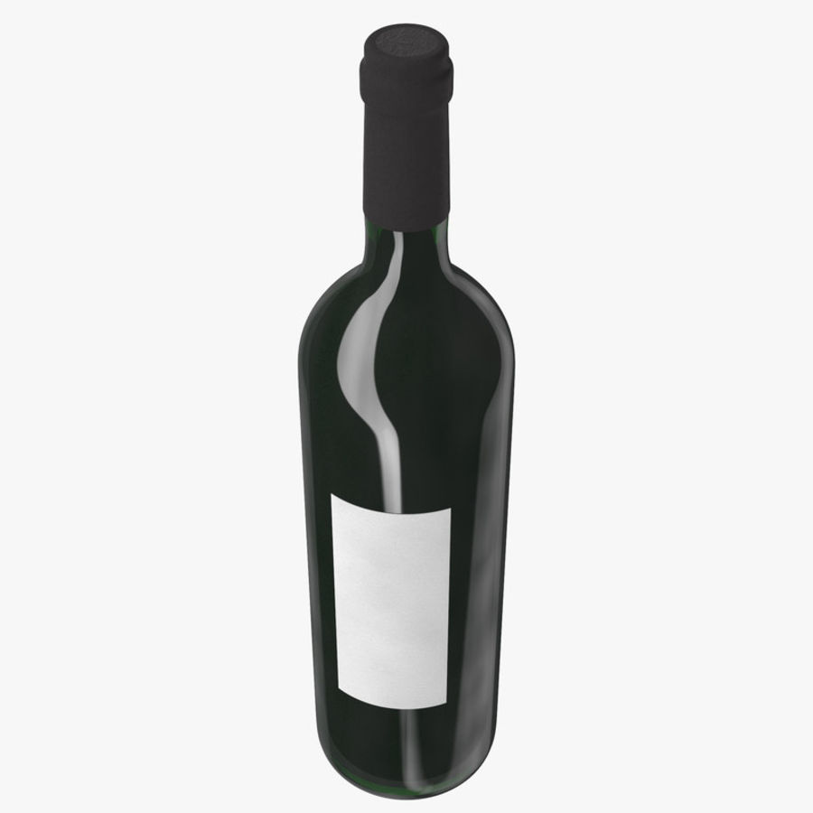 wine bottle red wine royalty-free 3d model - Preview no. 7