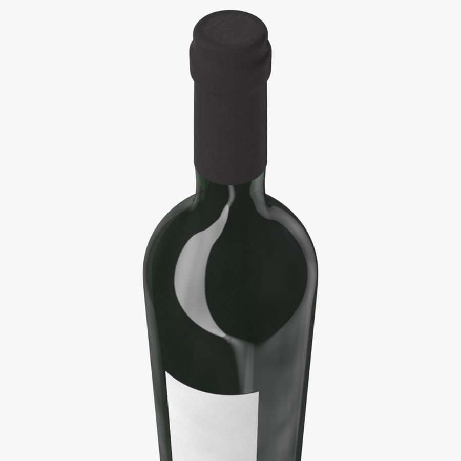 wine bottle red wine royalty-free 3d model - Preview no. 11