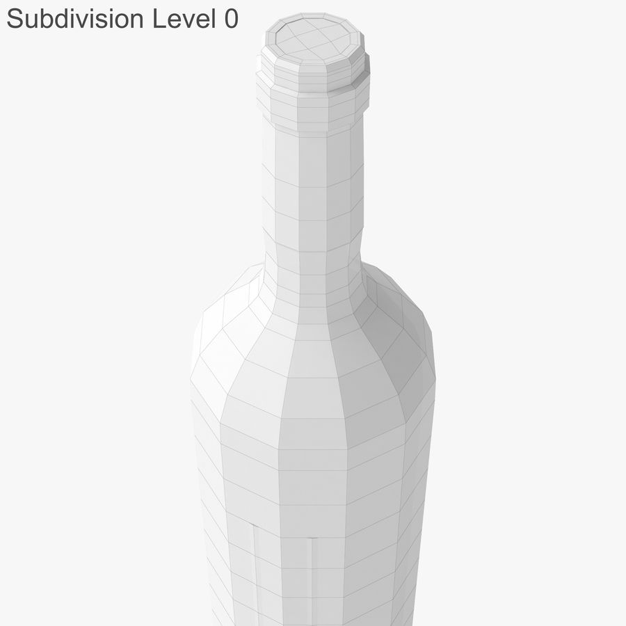 wine bottle red wine royalty-free 3d model - Preview no. 28