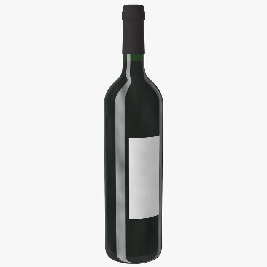 wine bottle red wine royalty-free 3d model - Preview no. 4