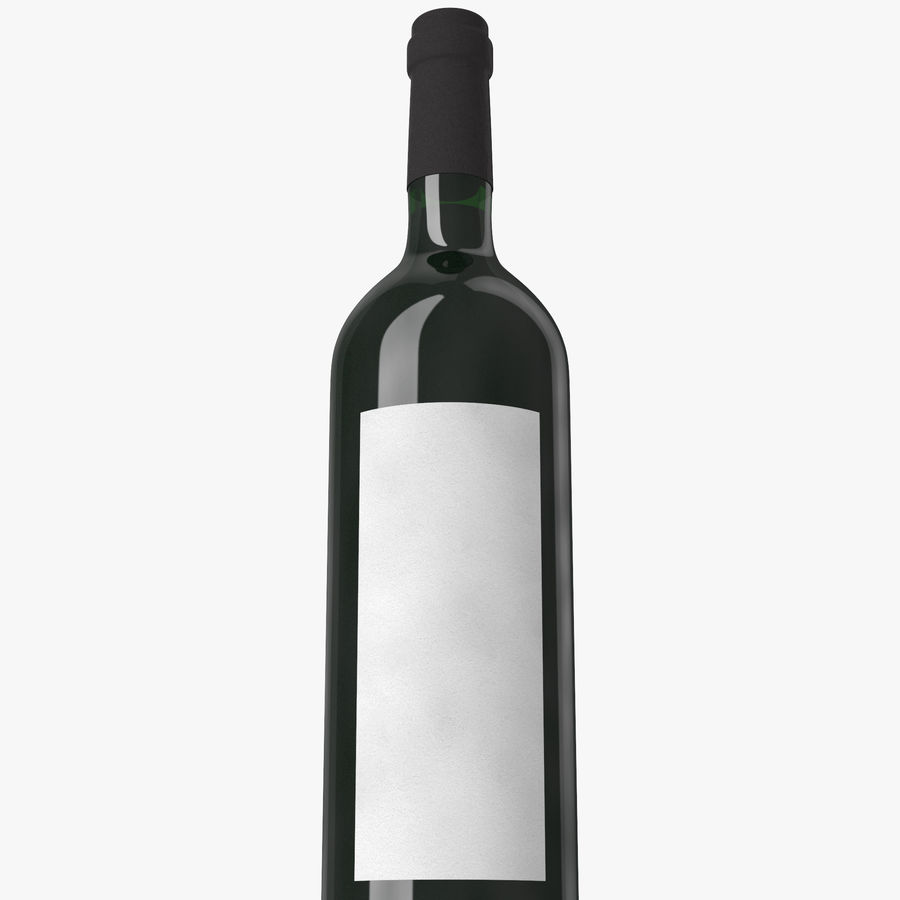 wine bottle red wine royalty-free 3d model - Preview no. 12