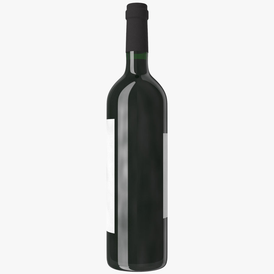wine bottle red wine royalty-free 3d model - Preview no. 15