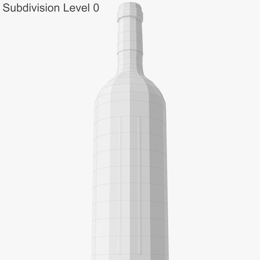 wine bottle red wine royalty-free 3d model - Preview no. 29