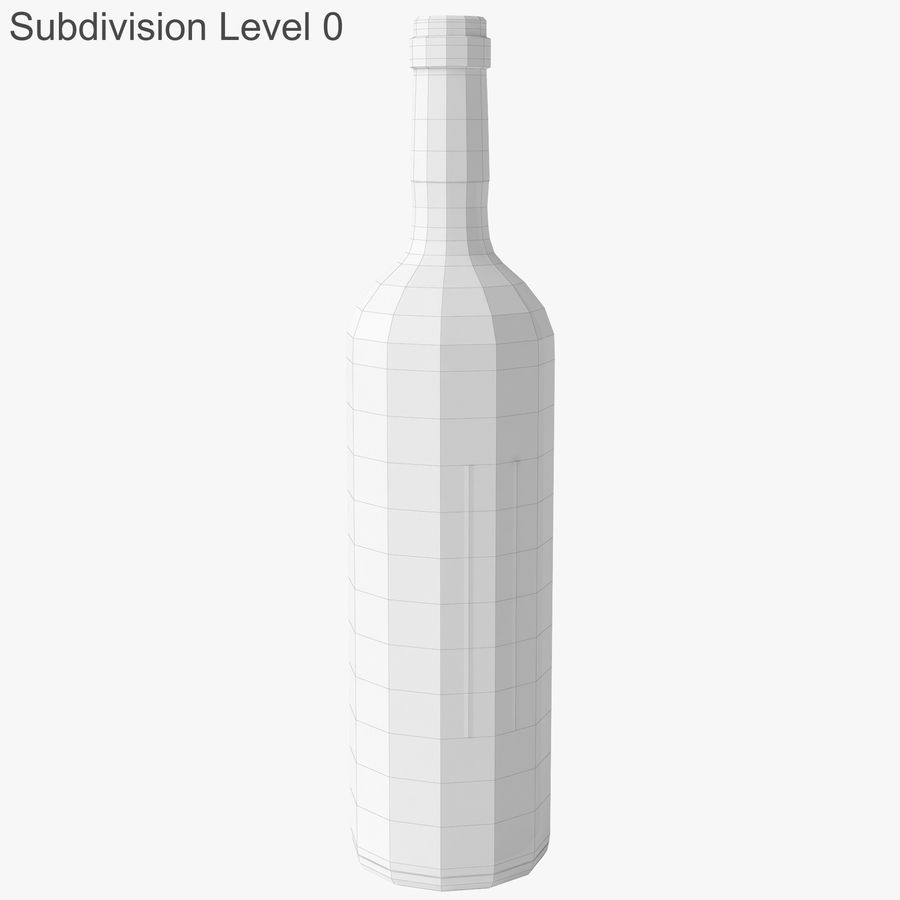 wine bottle red wine royalty-free 3d model - Preview no. 21