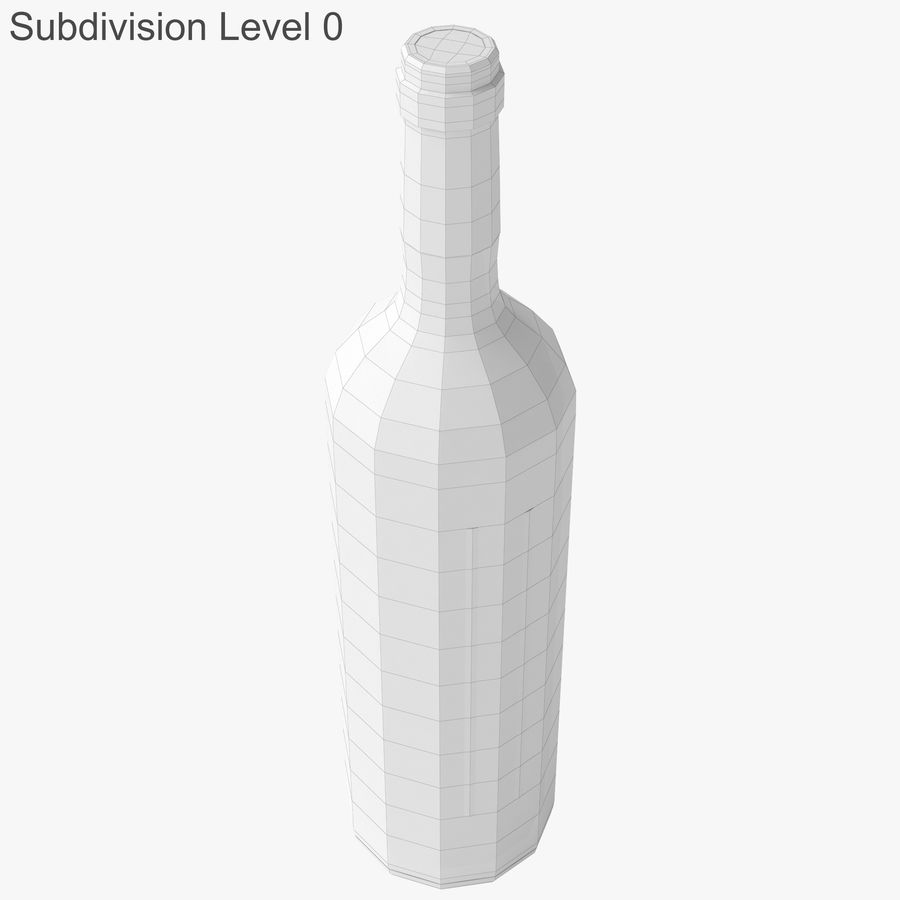 wine bottle red wine royalty-free 3d model - Preview no. 23