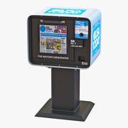 USA Today Newspaper Box 3D 모델 3d model