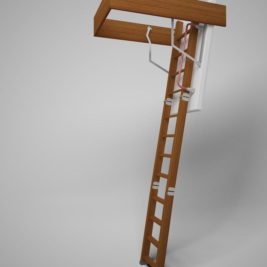 Stair Fakro LTK Thermo royalty-free 3d model - Preview no. 5