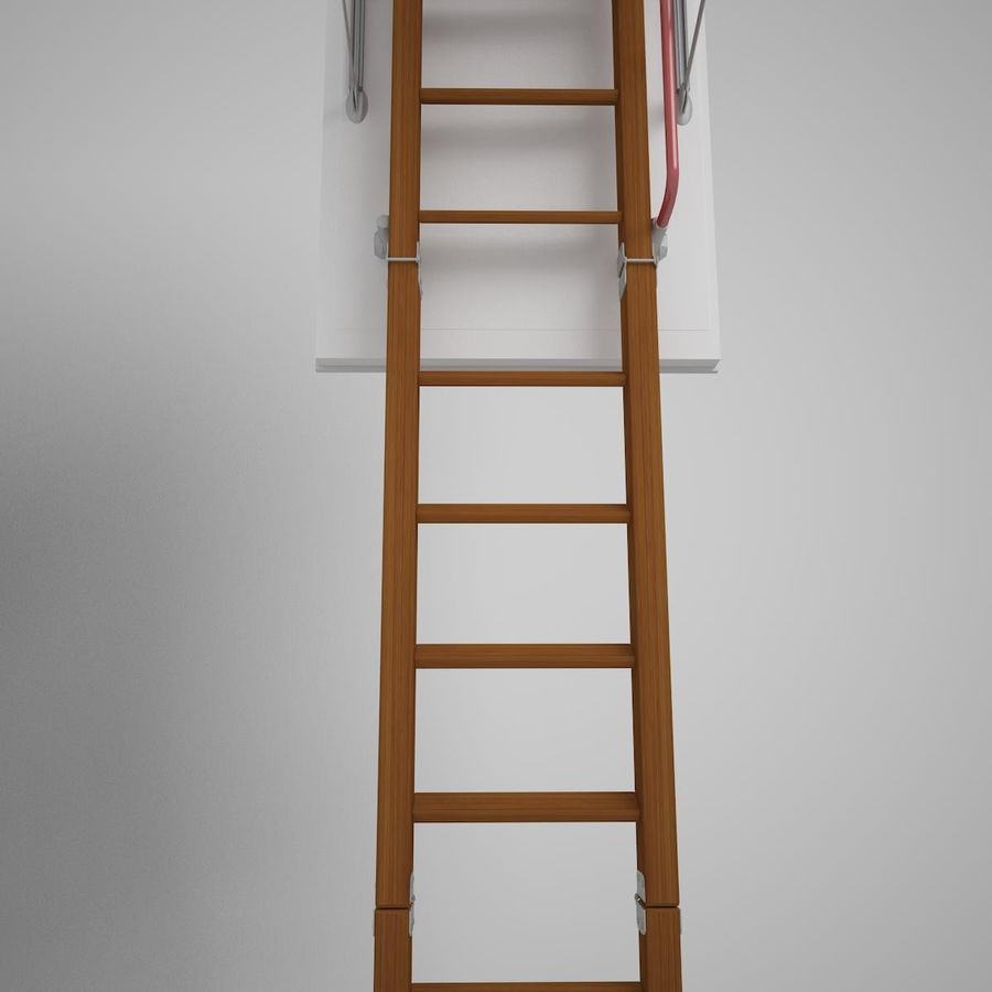 Stair Fakro LTK Thermo royalty-free 3d model - Preview no. 6
