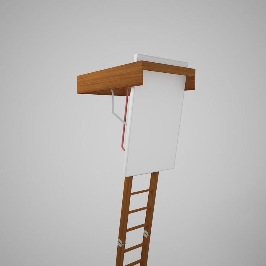 Stair Fakro LTK Thermo royalty-free 3d model - Preview no. 11