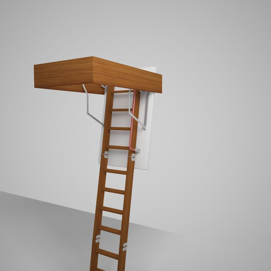 Stair Fakro LTK Thermo royalty-free 3d model - Preview no. 13