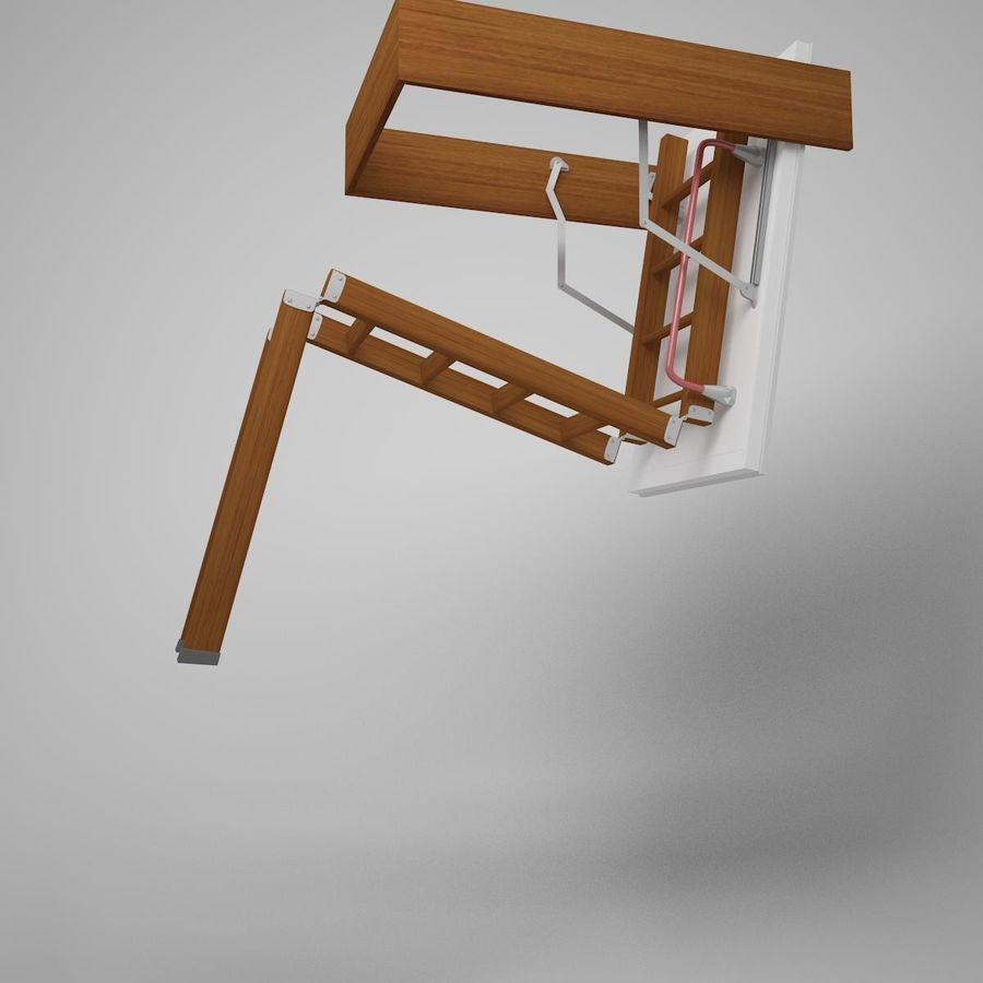 Stair Fakro LTK Thermo royalty-free 3d model - Preview no. 4