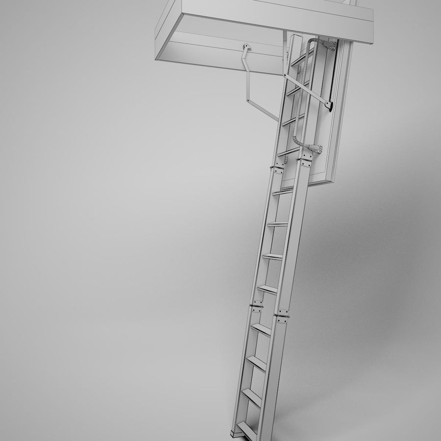 Stair Fakro LTK Thermo royalty-free 3d model - Preview no. 17