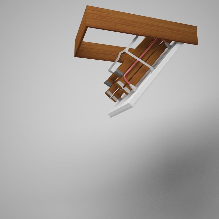 Stair Fakro LTK Thermo royalty-free 3d model - Preview no. 3