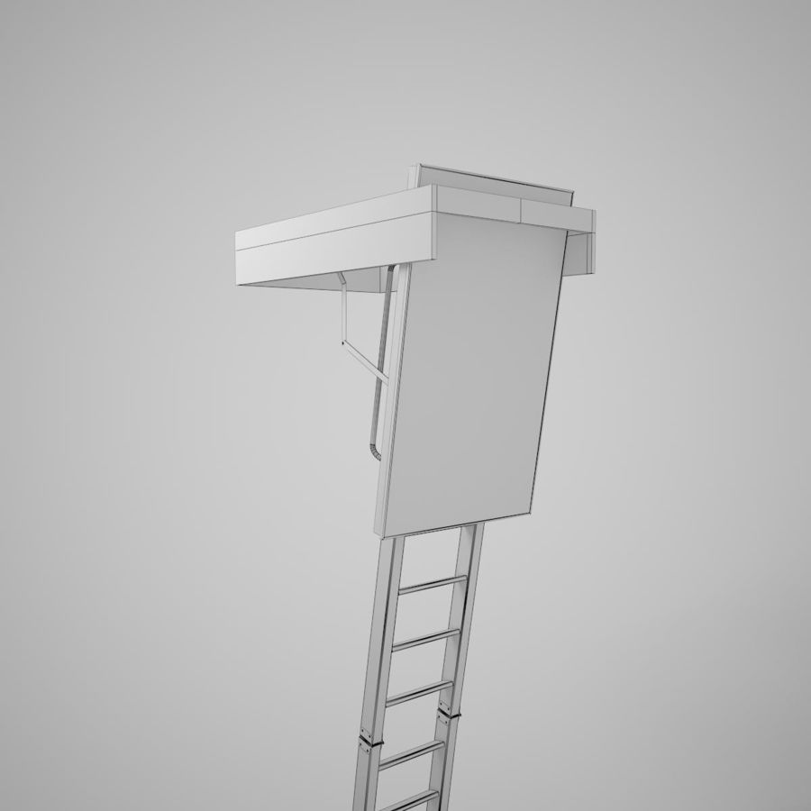Stair Fakro LTK Thermo royalty-free 3d model - Preview no. 23